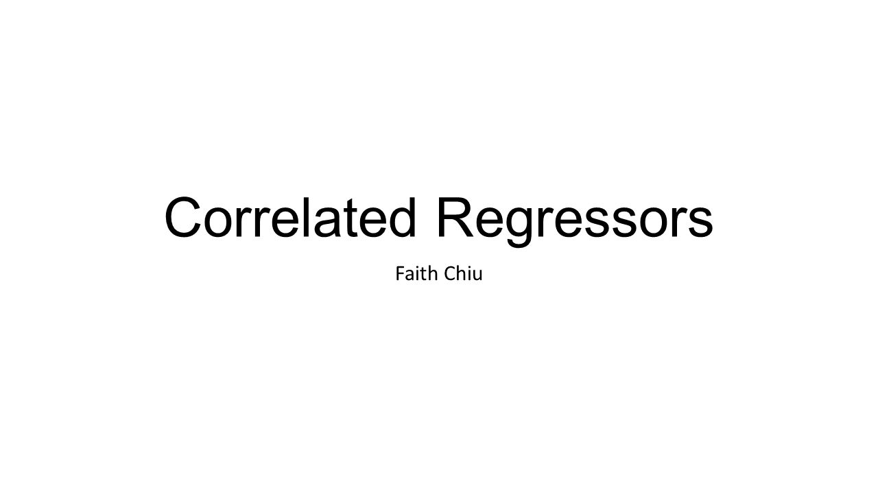 Correlated Regressors