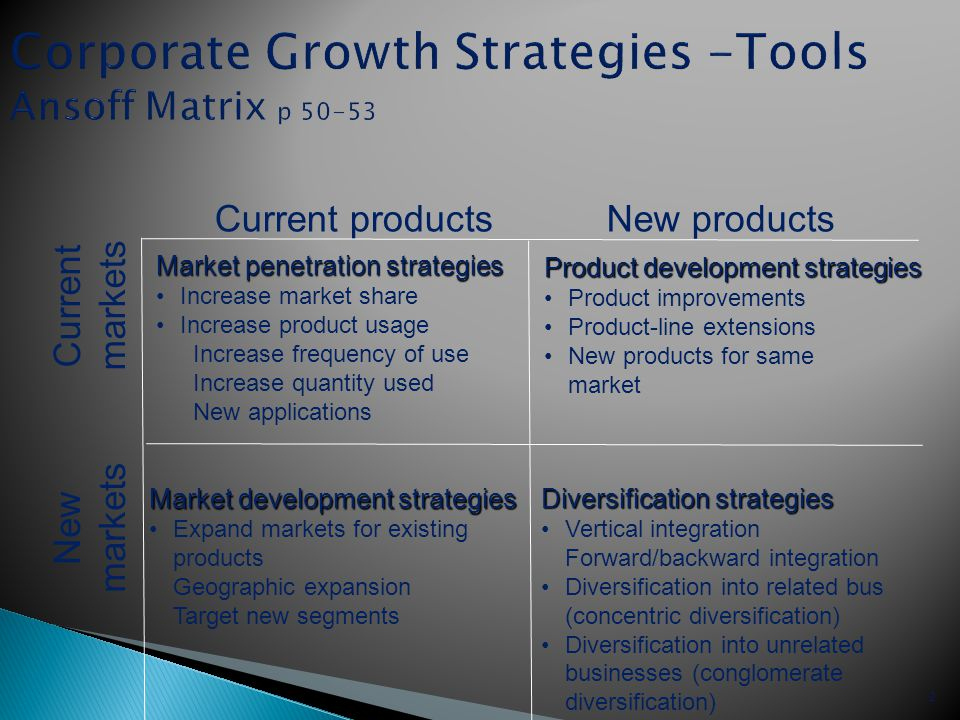diversification marketing and growth strategy