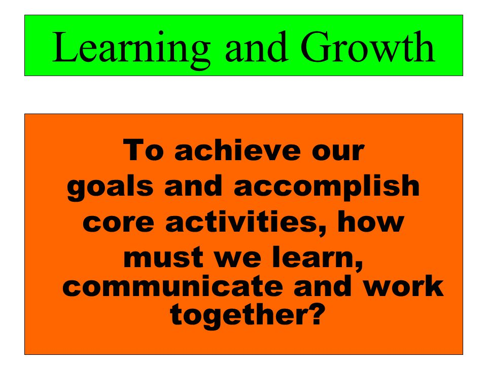 must we learn, communicate and work together