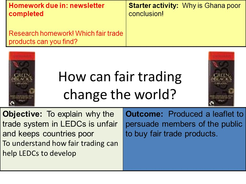 How can fair trading change the world