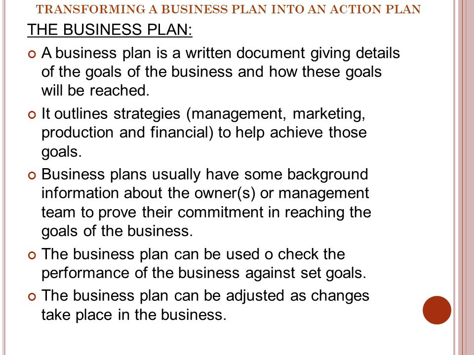 Business Action Plan: How to Develop an Action Plan