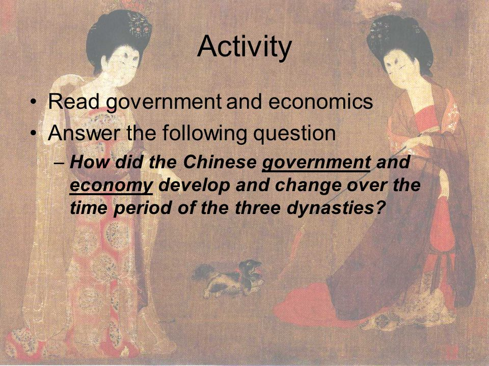 Activity Read government and economics Answer the following question