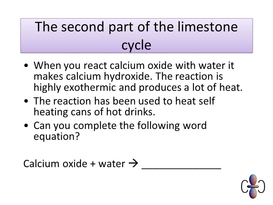 The second part of the limestone cycle