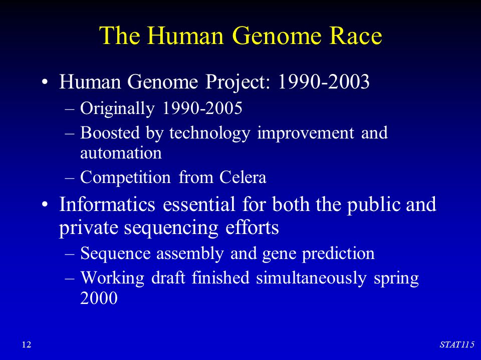 The Human Genome Race Human Genome Project: