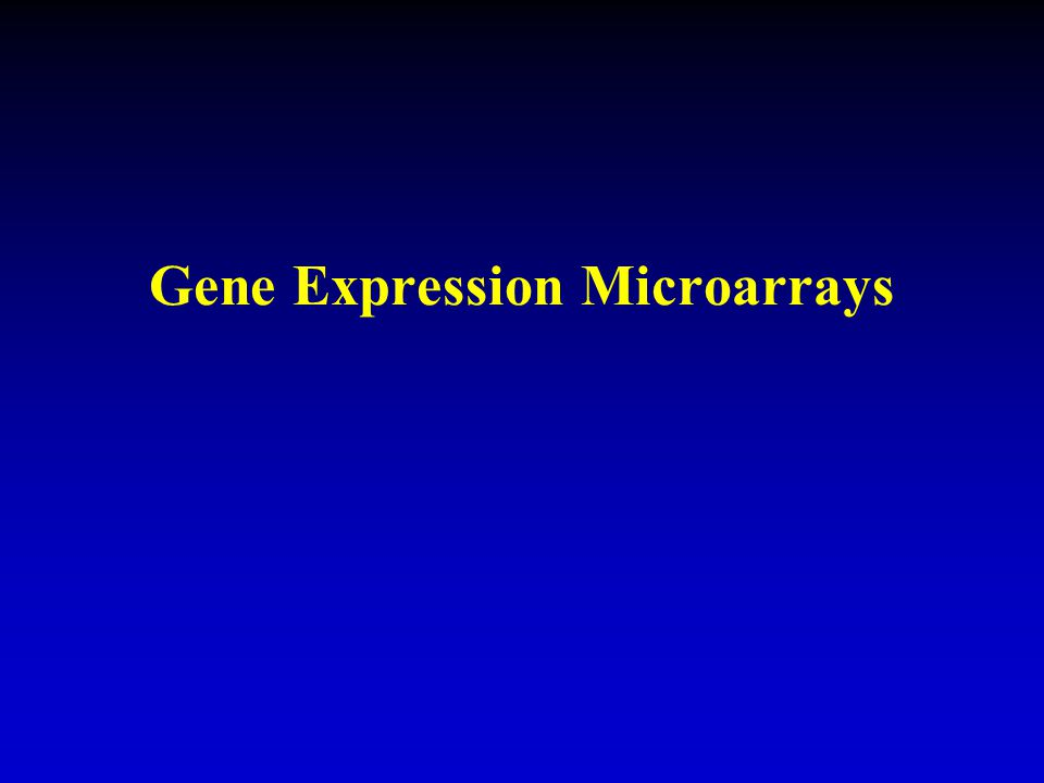 Gene Expression Microarrays