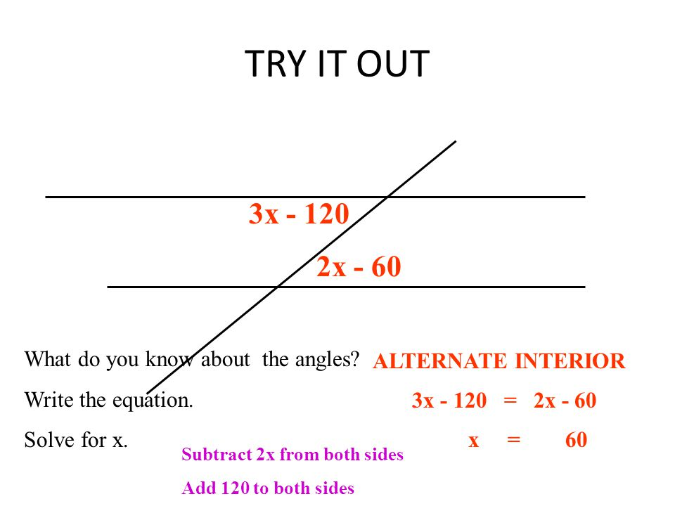 Parallel Lines Cut By A Transversal Ppt Video Online Download