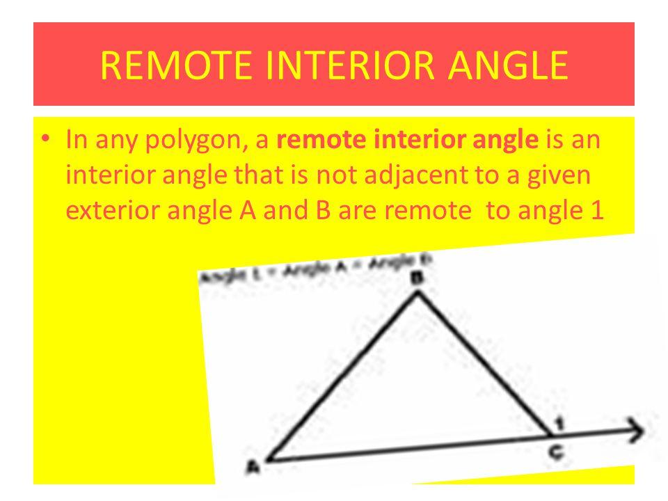 Remote interior angles definition math