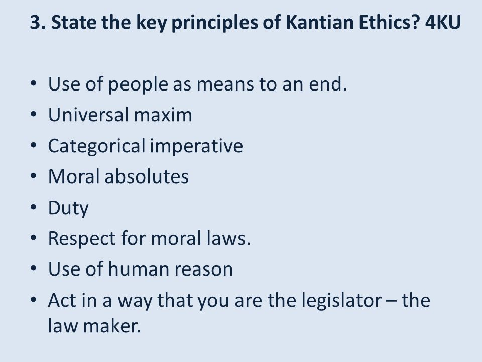 Kantian moral theory respect for humans