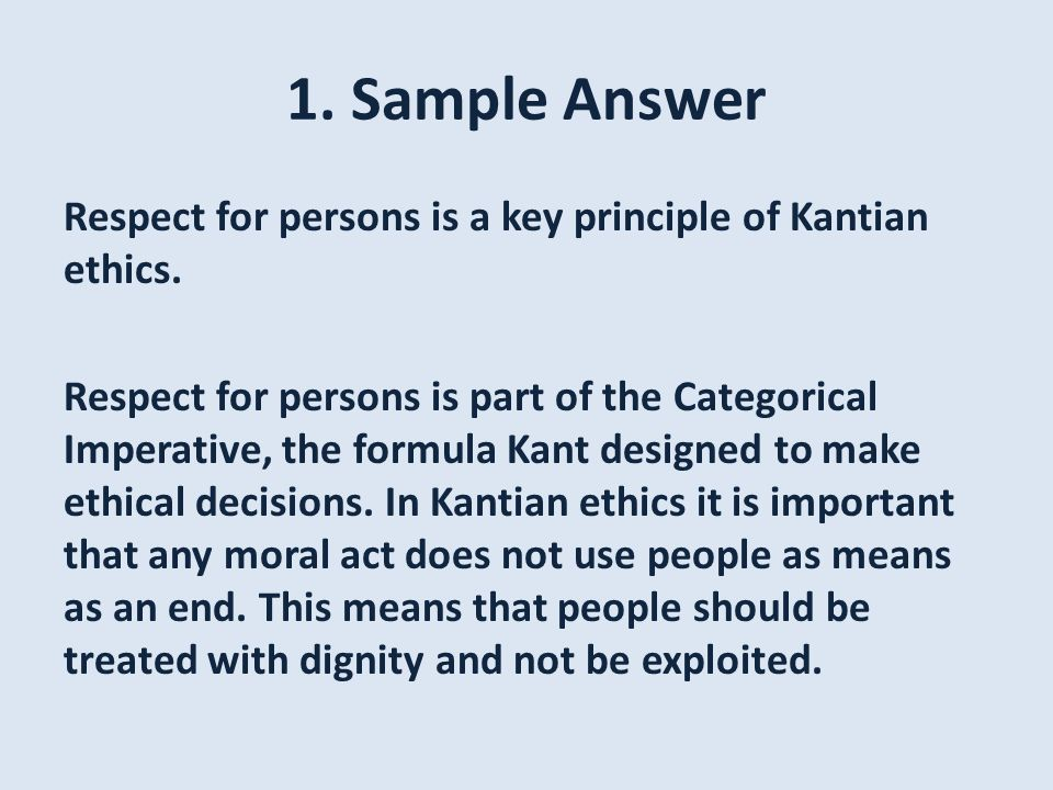 Kant exam questions