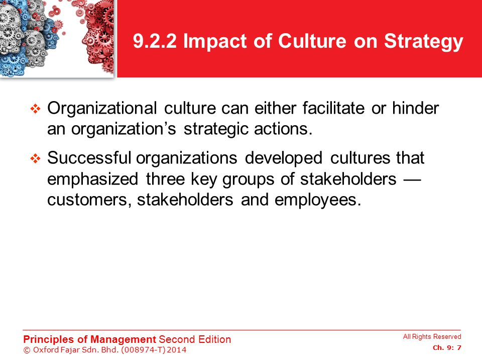 9.2.2 Impact of Culture on Strategy