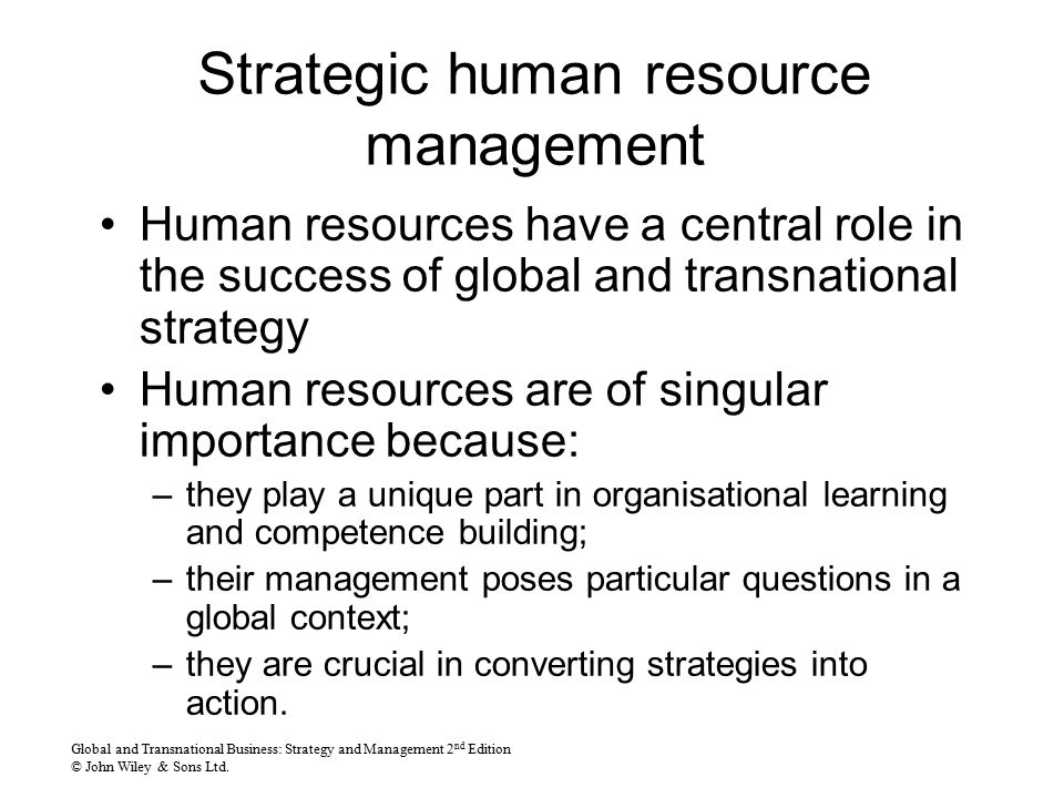 human resources strategic objective and action The human resources department can have a huge impact on employee satisfaction as such, it's important for hr leaders to set goals that support a business' goals for example, if an investment business wants to increase the number of new customer accounts by 20 percent in the next year, the hr.
