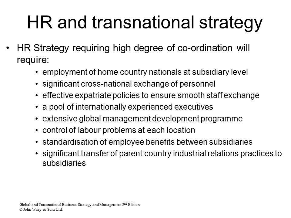 Global Leadership And Strategic Human Resource Management - Ppt