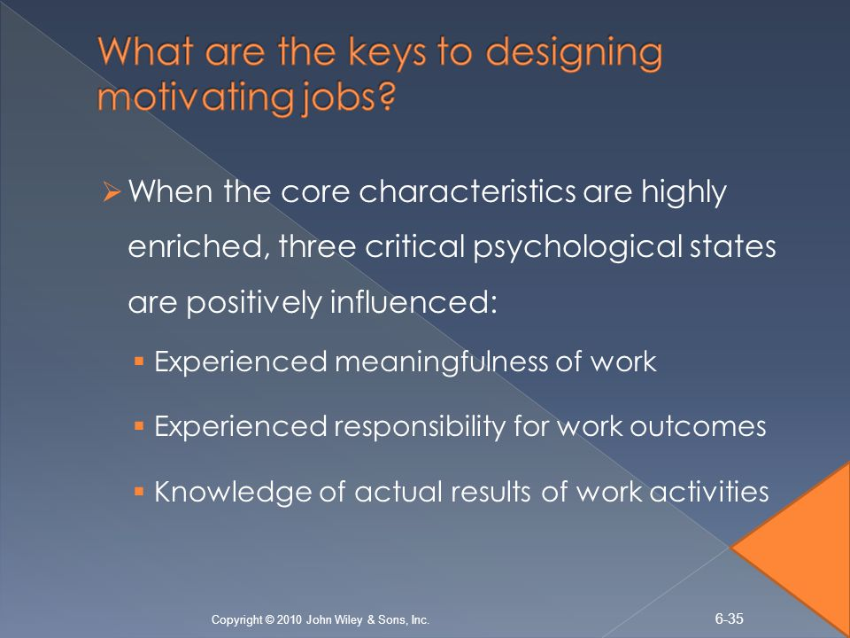 designing high performance jobs As an element of a high-performance work system, _____ determine(s) how the details of the organization's necessary activities will be grouped, whether into jobs or team responsibilities task design.