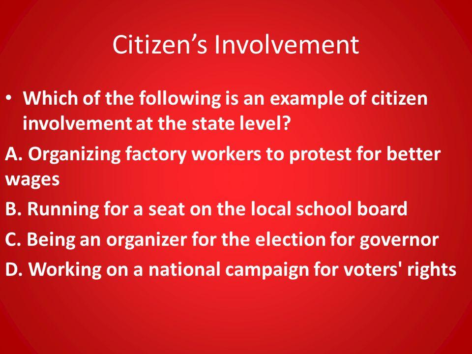 Citizen's Involvement