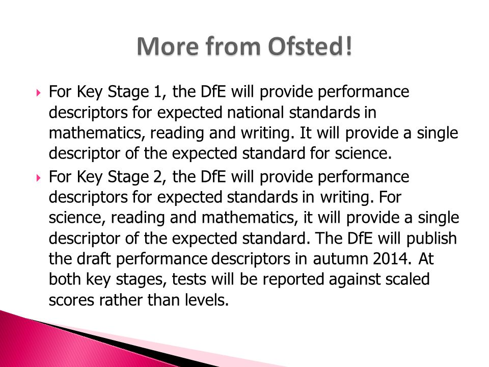 More from Ofsted!