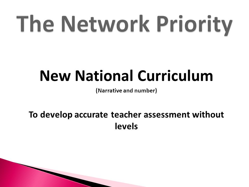 The Network Priority New National Curriculum