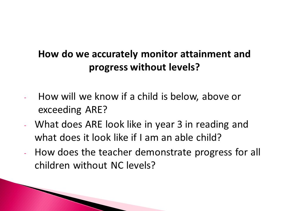 How do we accurately monitor attainment and progress without levels