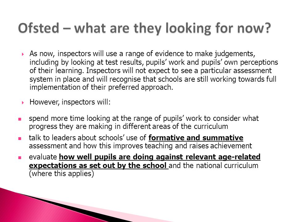 Ofsted – what are they looking for now