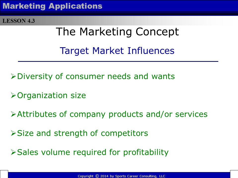 product concept target market market size marketing essay It is helpful to view marketing strategy planning as a process of  look for a  definition that is broader than your firm's current product market, but not so   common market segment dimensions for consumer and b2b markets.
