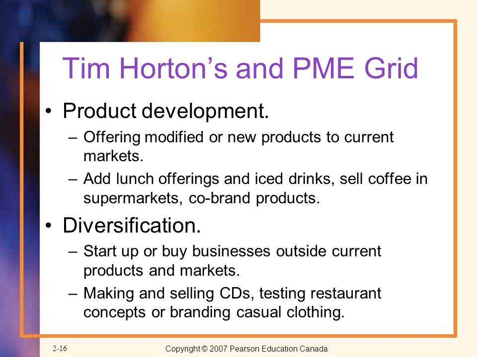Tim Horton's and PME Grid