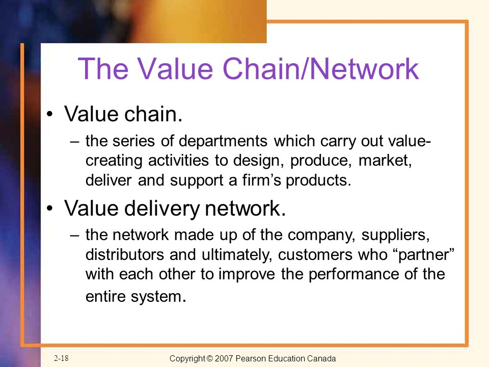 The Value Chain/Network