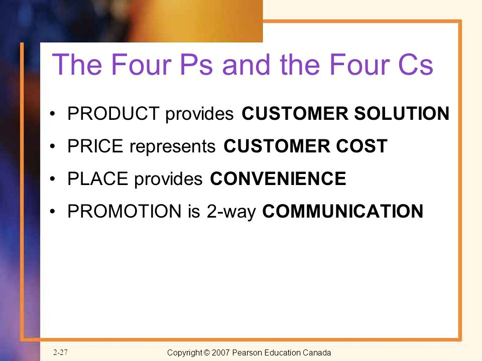 The Four Ps and the Four Cs