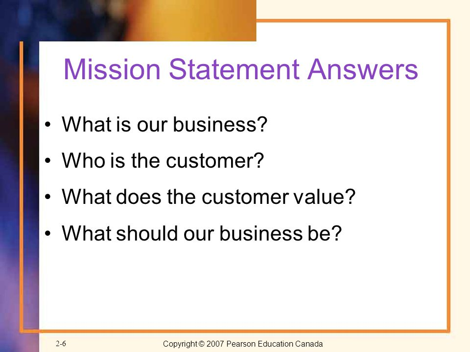 Mission Statement Answers