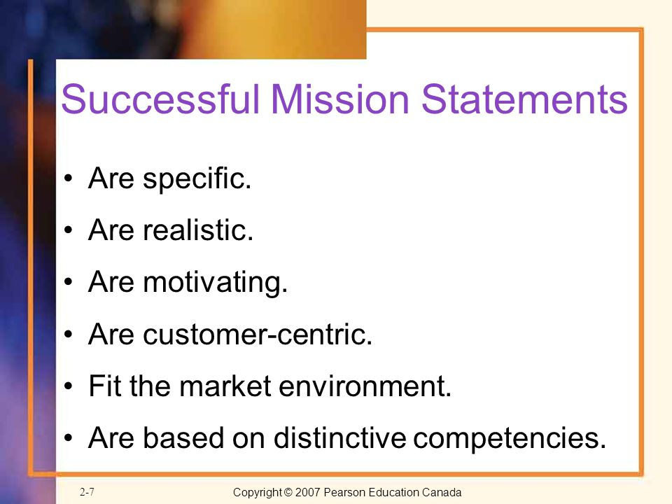 Successful Mission Statements