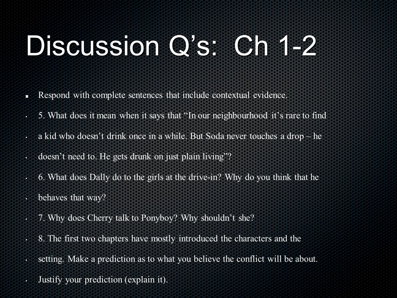 a discussion on character setting and plot development in the outsiders by se hinton Use this cliffsnotes the outsiders book summary & study guide today to ace  your next test  and analysis, quotes, essays, and character analysis courtesy of  cliffsnotes in the outsiders, se hinton tells the story of 14-year-old ponyboy  curtis and  se hinton biography critical essays themes in the outsiders  the.