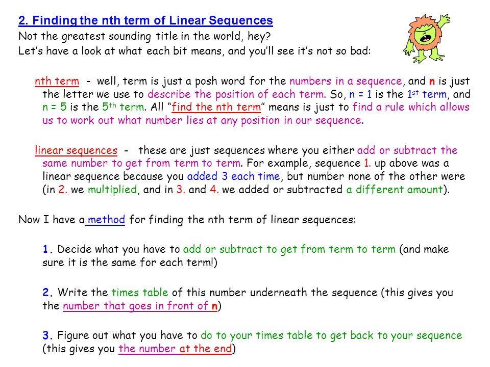 Mr barton s maths notes ppt download for Table th nth
