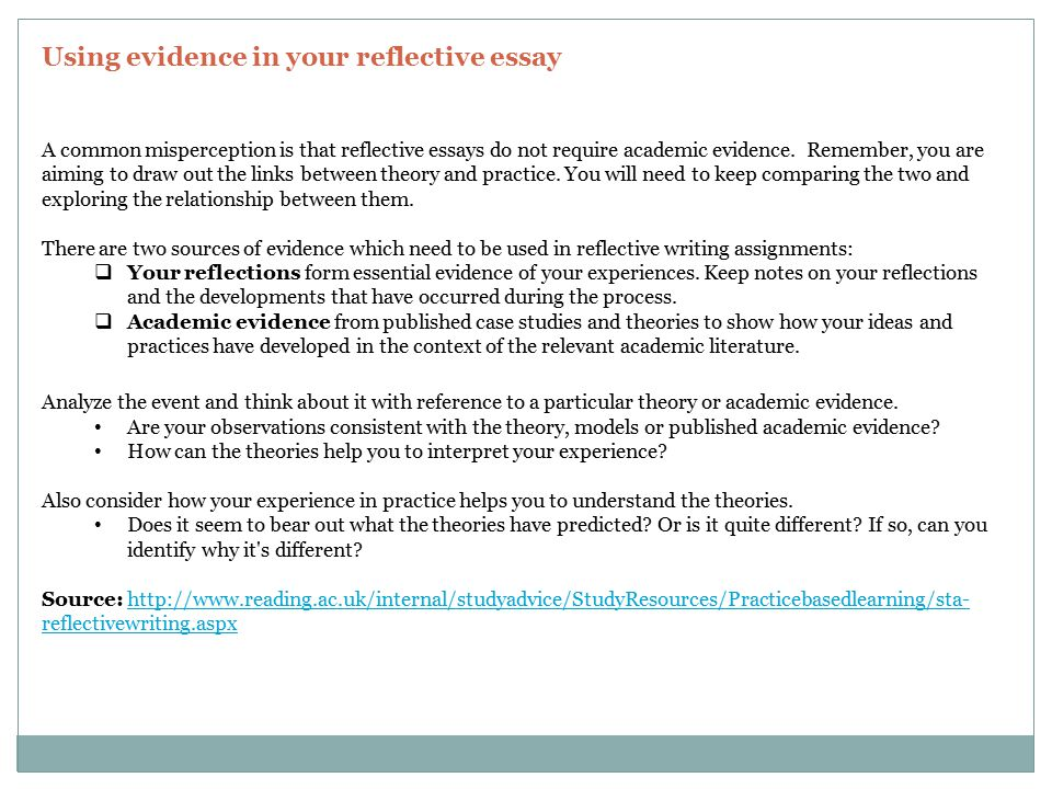 reflective essay uk What sort of reflective essay might i have to do you're most likely to be asked to write reflectively about an incident which has happened on your.