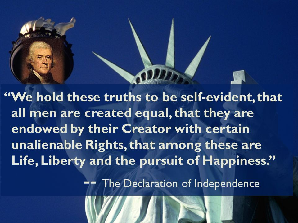 freedom and equality among men in the declaration of independence The declaration of independence, constitution and bill of rights, collectively known as the charters of freedom, have guaranteed the rights and freedoms of americans for over 200 years.