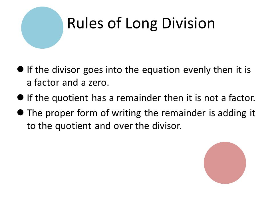 Warm up pg 130 s 16 22 36 42 52 ppt download rules of long division if the divisor goes into the equation evenly then it is a ccuart Images