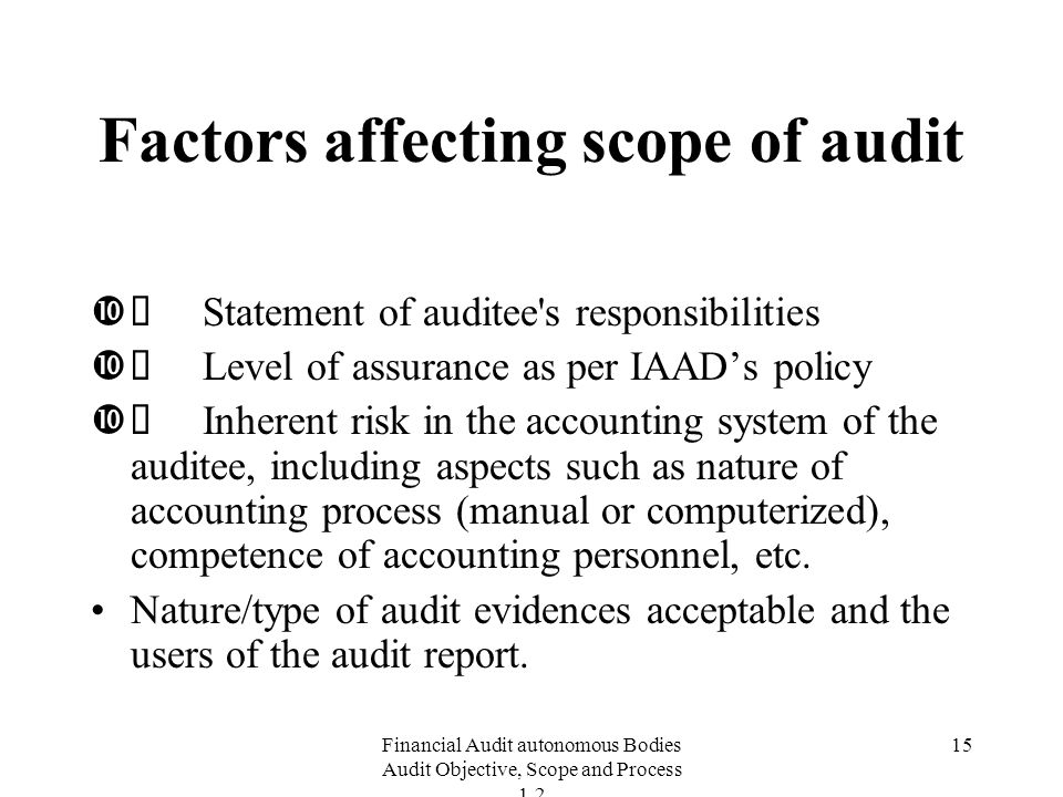 factors affecting the reliability of audit report accounting essay This paper is sponsored by: challenges facing public sector audit committees the information contained in this guidance paper is provided for discussion purposes.