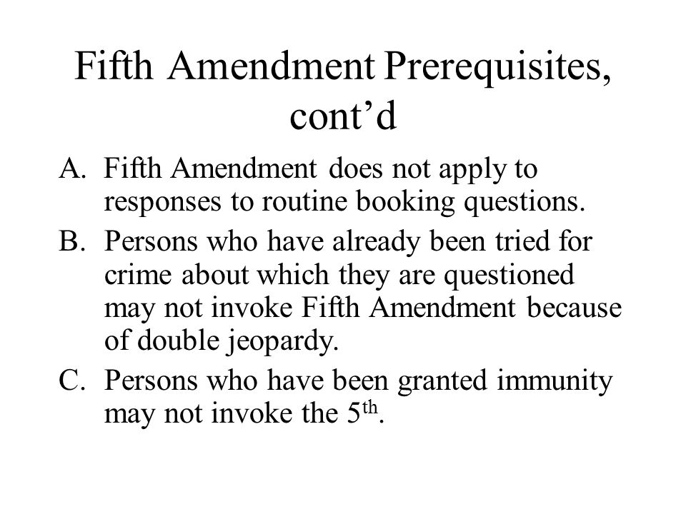 Double Jeopardy 5th Amendment Chapter 7 Compu...