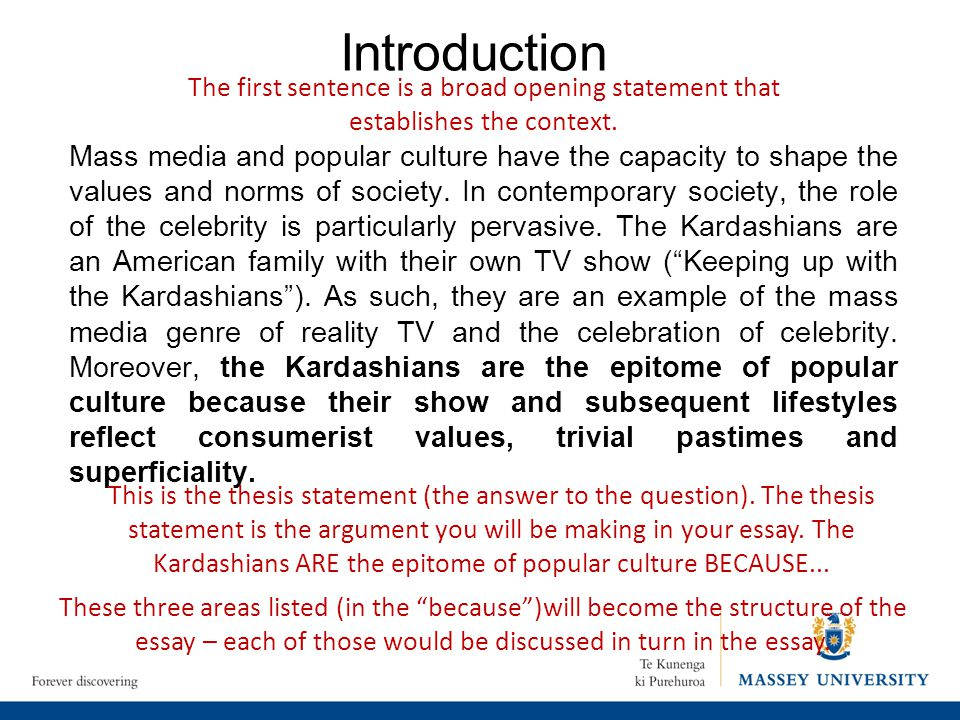 Thesis statement about mass media