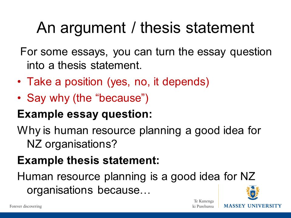 Argument Essay With Thesis Statement