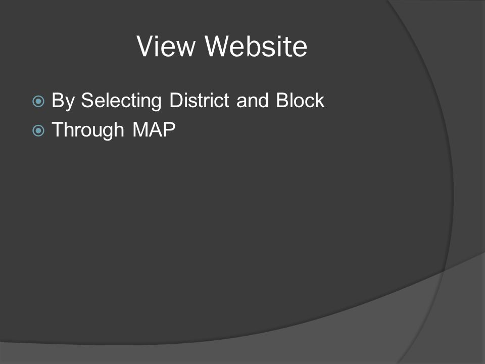 View Website By Selecting District and Block Through MAP