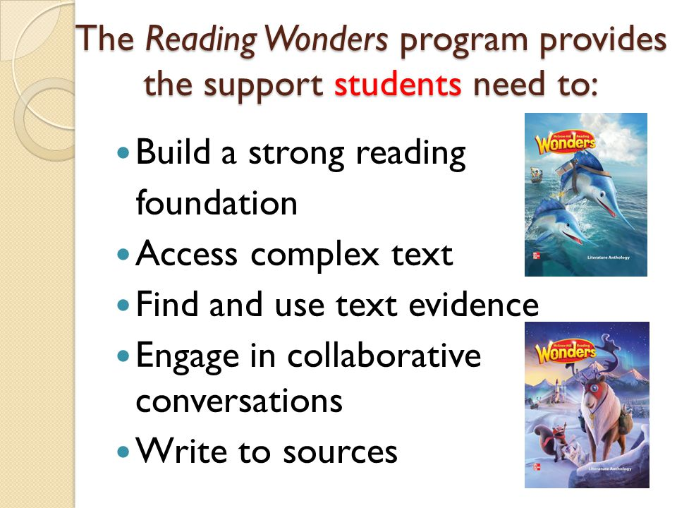 Collaborative Classroom Reading Curriculum ~ Reading wonders overview presented by nicole waldbauer