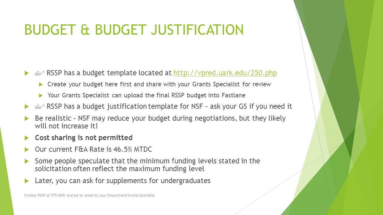 Writing a Budget Justification