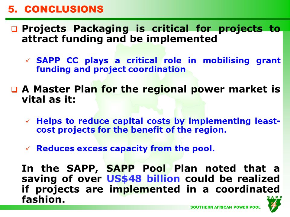 Powering africa sapp strategies ppt video online download a master plan for the regional power market is vital as it sciox Images