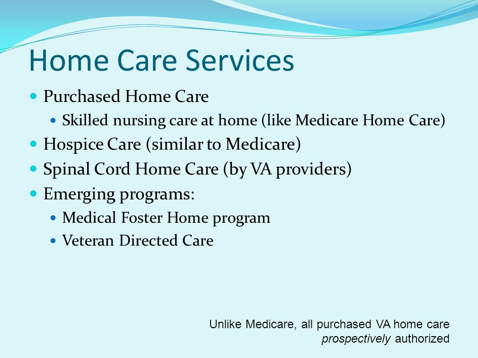Home Care Services Purchased Home Care