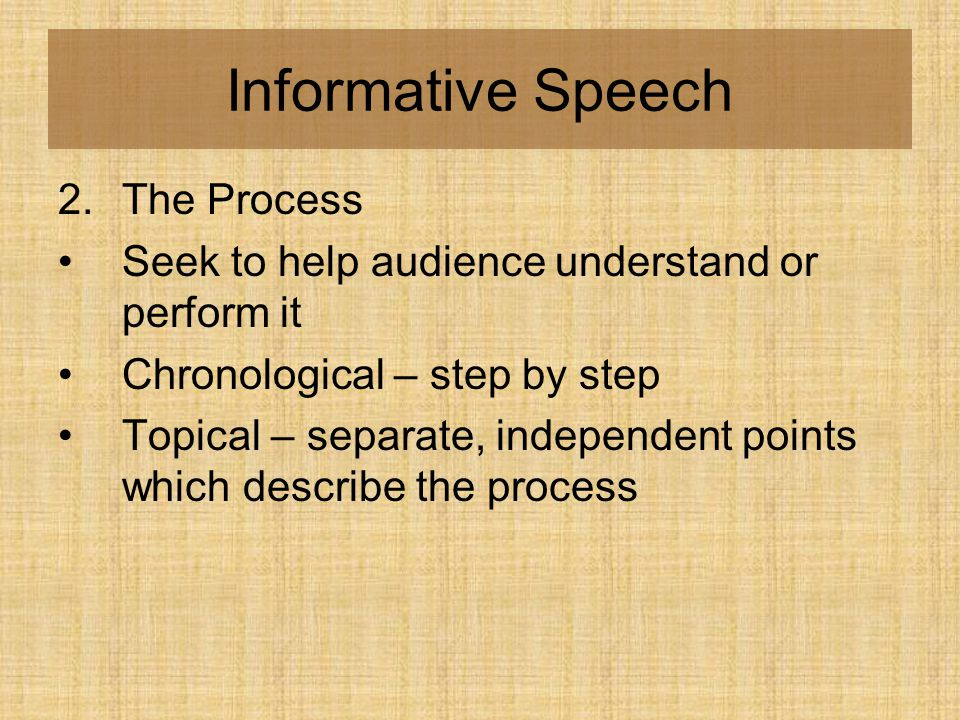 Senior Speech Informative Speeches. - Ppt Download