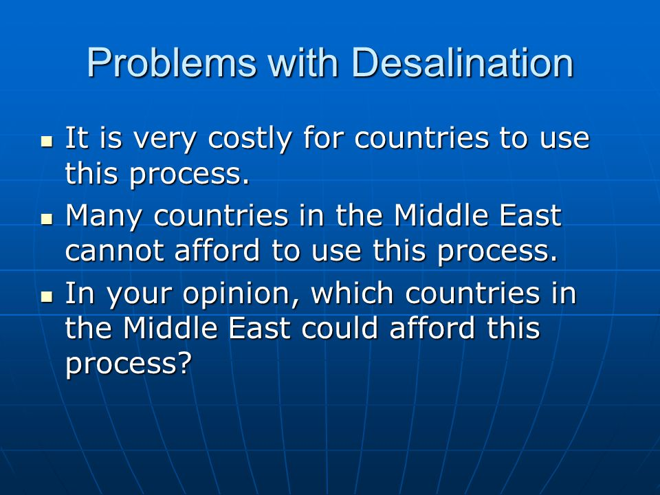 Problems with Desalination