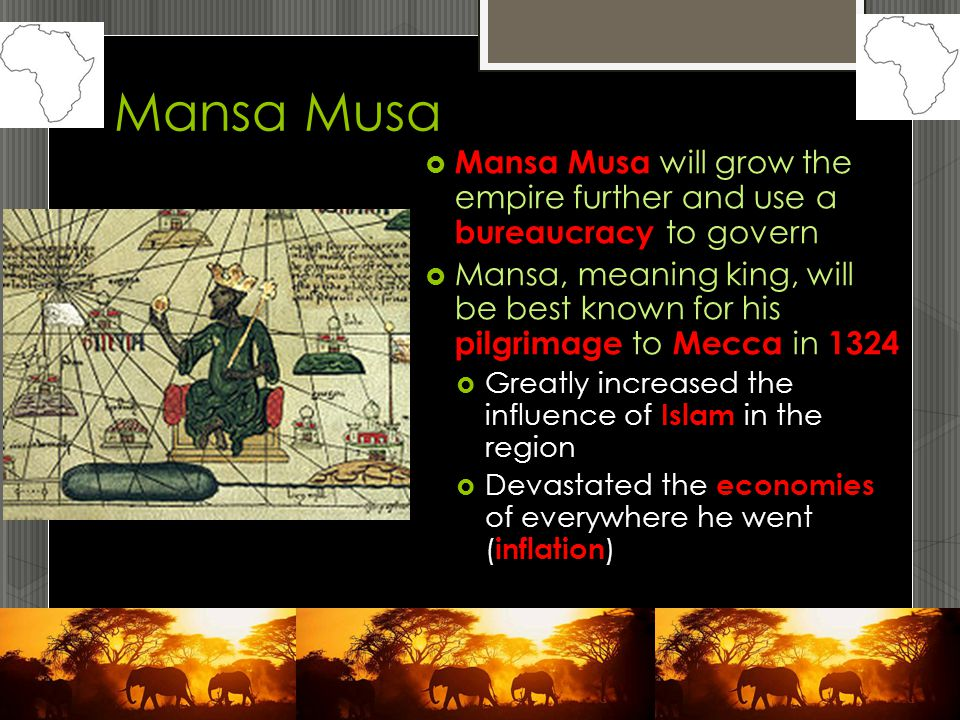 mansa musa essay Write an essay about how mansa musa changed people's views of west africa include an introduction, a body of several paragraphs, and a concluding paragraph.