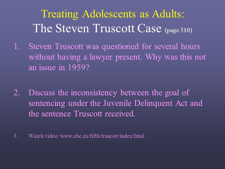 Why adolescents should not be tried as adults