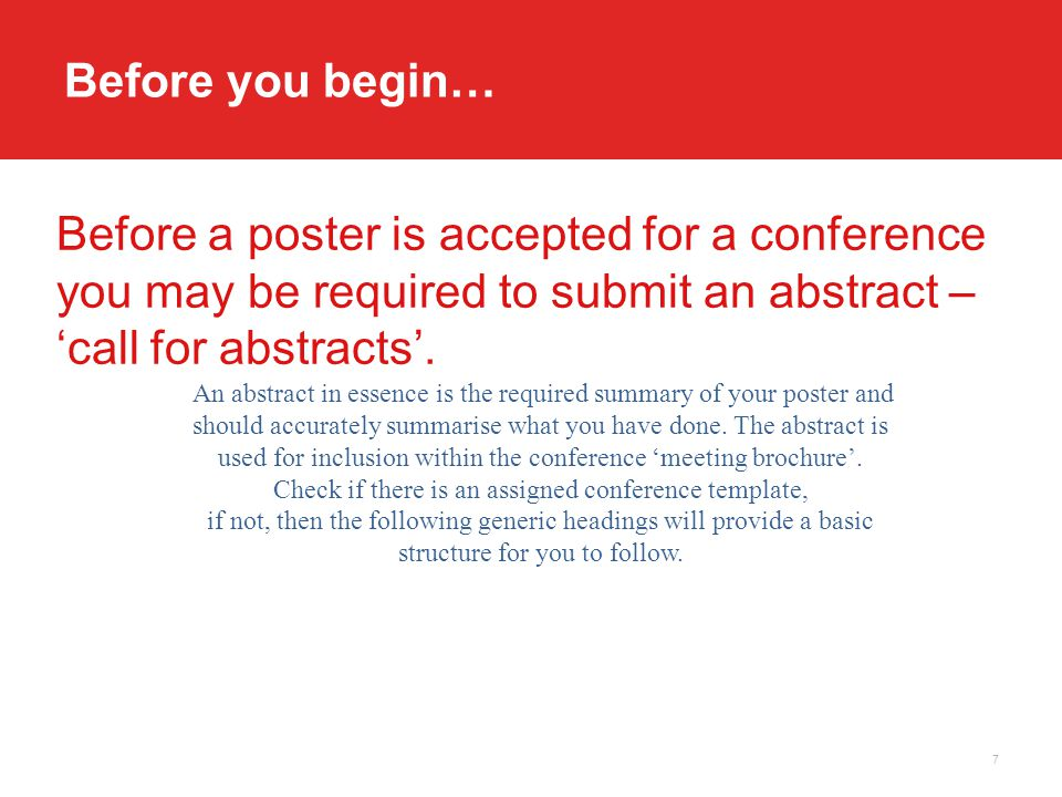 how do you write an abstract for a conference