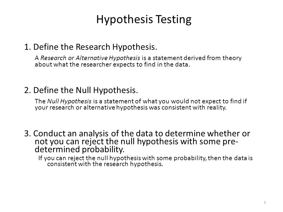 Hypotheses? Forget About It!