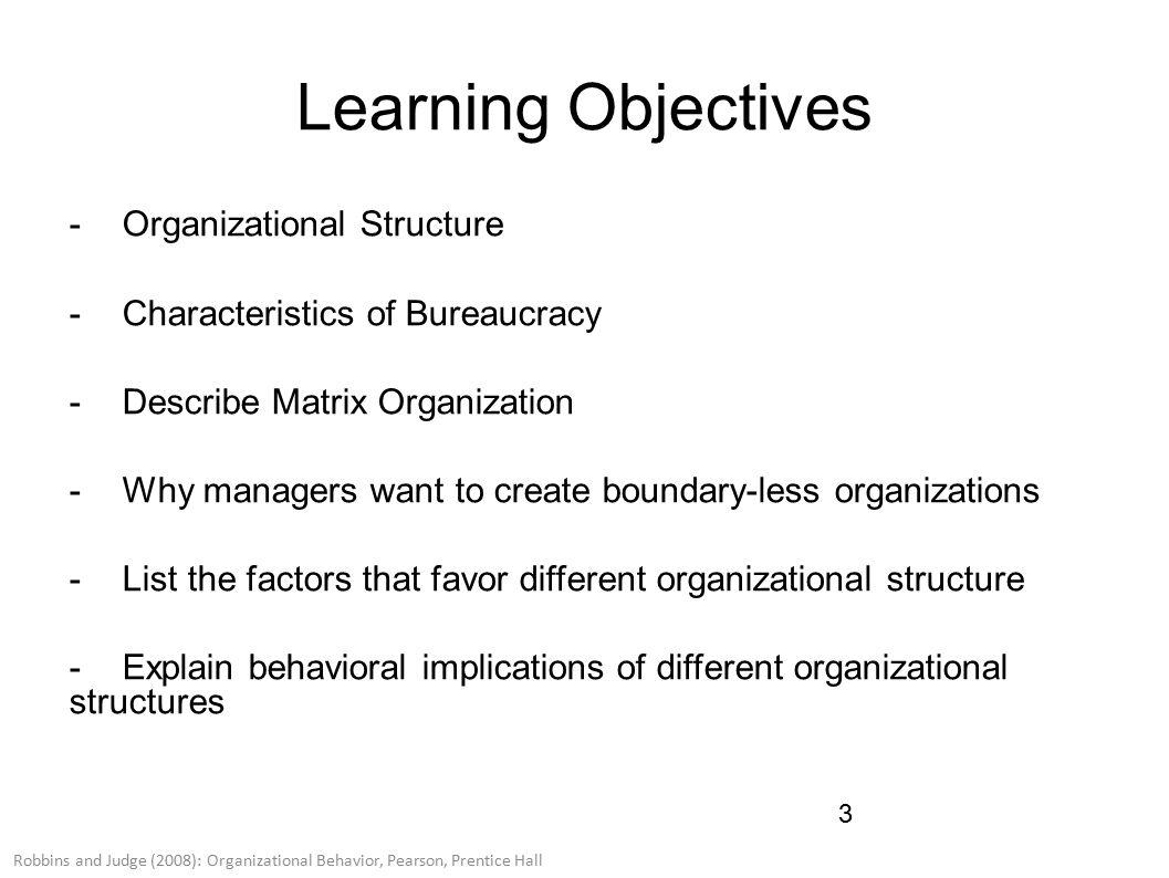 post bureaucratic structure Organizational structure, organizational form, and counterproductive work behavior: a competitive test of the bureaucratic and post-bureaucratic views.