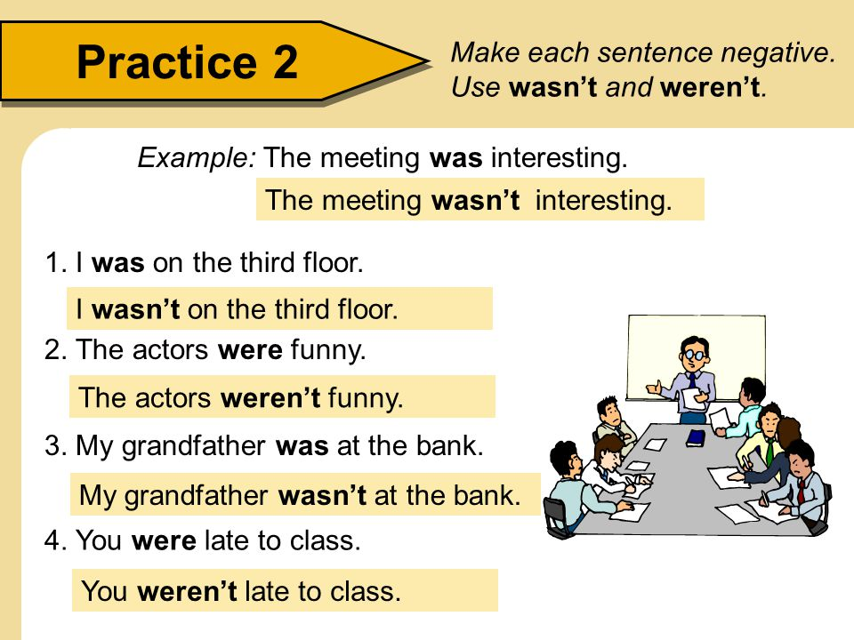 The past of be statements yes no questions ppt video for Sentence of floor